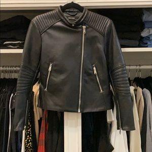 Zara Basic Faux Leather Jacket- Womens L